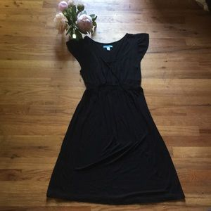 Cute Black Empire Waist Dress